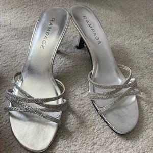 Silver Dress Sandals Heels
